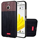 MOONCASE HTC 10 Evo Case, [Wood Grain] Creative 3D motif Protection Etui en Silicone pour HTC Bolt / HTC 10 Evo Housse Antidérapant en TPU Gel Avec Absorption de Chocs
