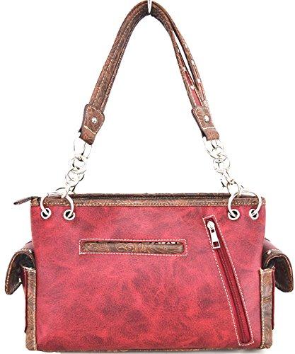 Blancho Biancheria da letto delle donne [Diamante] borsa dell'unità di elaborazione di cuoio di modo elegante Borsa Rosso Handbag-Rosso