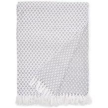 EHC Super Suave Manta de algodón Grande Cubre hasta 2-sofá o Cama de Matrimonio