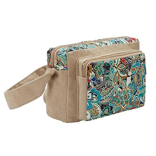 Chang Spent La nouvelle tendance des femmes petit sac à bandoulière de sac de messager sac de toile carrée (trois options de couleurs) c