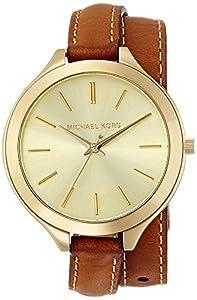 Michael Kors MK2256 - Reloj de cuarzo con correa de piel para mujer, color dorado de Michael Kors