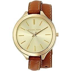 Michael Kors MK2256 - Reloj de cuarzo con correa de piel para mujer, color dorado