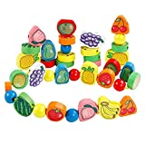 Best Wooden Kitchens For Kids - Trinkets & More - 56 Piece Fruit Bead Review