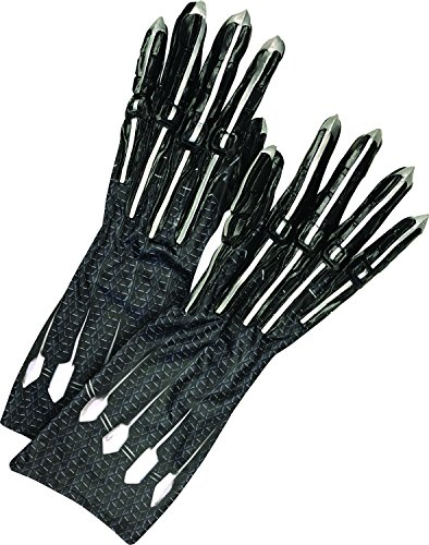 Marvel Black Panther Adult Deluxe Costume Gloves - Black - One Size (Black Handschuhe Panther)