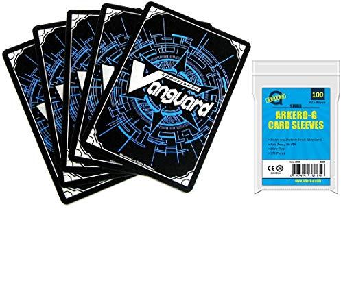 Cardfight Vanguard Bushiroad MEGA Booster Deck 100 Karten Sammlung inkl. RR + GRATIS Arkero-G Small Soft Sleeves (Vanguard-karten)