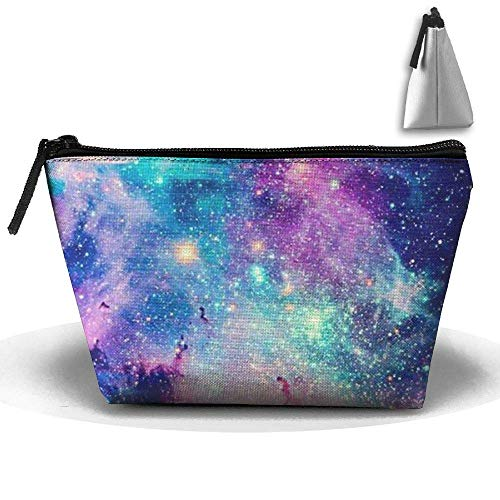 Galaxy Trapezoidal Storage Bag Double Print Handbag Zipper Package Coin Purse Cosmetic Pouch Wallet Pencil Holder Zipper Designer Makeup Bag -