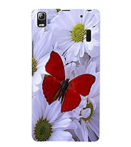 Vizagbeats Red Butterfly Back Case Cover for Lenovo K3 Note