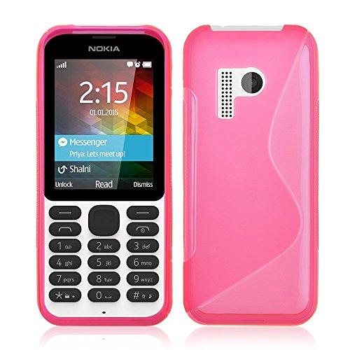 Accessory Master Rosa S - Line TPU gel Silikon Hülle Tasche Schutzhülle Case Cover für Nokia 215
