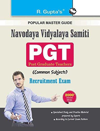 Navodaya Vidyalaya Samiti: PGT (Common Subject) Recruitment Exam Guide