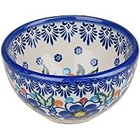 Boleslawiec Pottery–Contenitore in ceramica, dipinta a mano piccola ciotola snack e dip, 250ml 518-u-097
