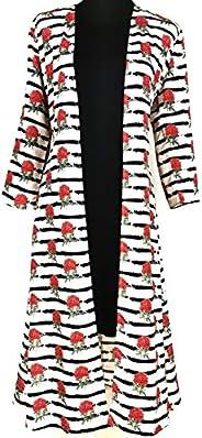 Ada Haya Woven Long Shrug for Women - Lovely Long Open Casual Shrug Dress