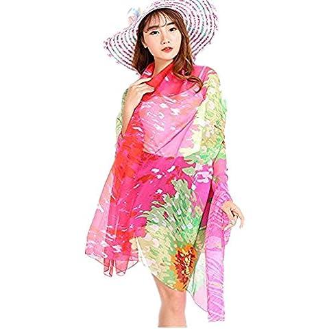 Fortan Wrap chiffon donne vestito da Pareo Pareo Beach Swimwear di occultamento del bikini Sciarpa