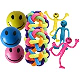 Ultimate Fiddle Kit by StressCHECK - Stress Balls, Bendy Men, Rainbow Orbit Balls - Sensory Toys - Fiddle Toys Give Relief from Stress, ADHD, Autism, SEN & PTSD