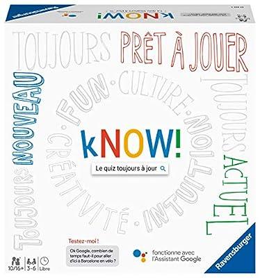 Ravensburger- kNOW! - Jeu de société - Jeu de quiz à jouer entre amis ou en famille - 27253 - Version française