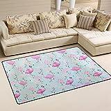 coosun Flamingos Muster Bereich Teppich Teppich rutschfeste Fußmatte Fußmatten für Wohnzimmer Schlafzimmer 78,7x 50,8cm, Textil, multi, 31 x 20 inch