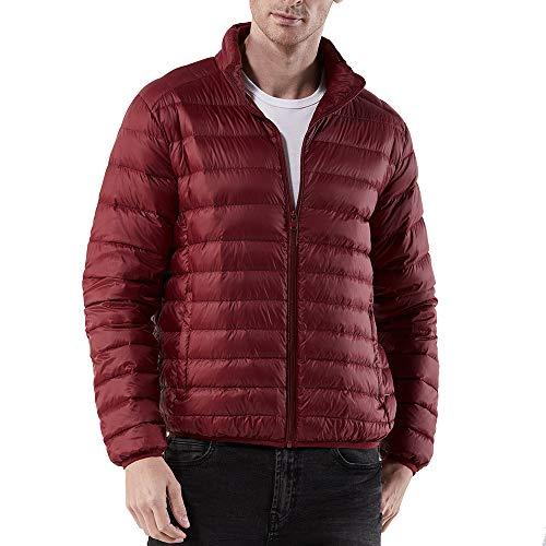 Yvelands Herren Daunenjae Fleece-Mantel Winter Warm Nylon Reißverschluss Dier Fleece-Mantel Fleece-nylon-parka
