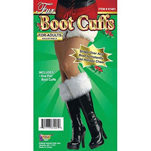 42cm weiß Pelz Stiefelstulpe Manschette Deckt Frau Miss Weihnachtsmann Weihnachten Verkleidung Grotte Geburt Weiches Plüsch stoff