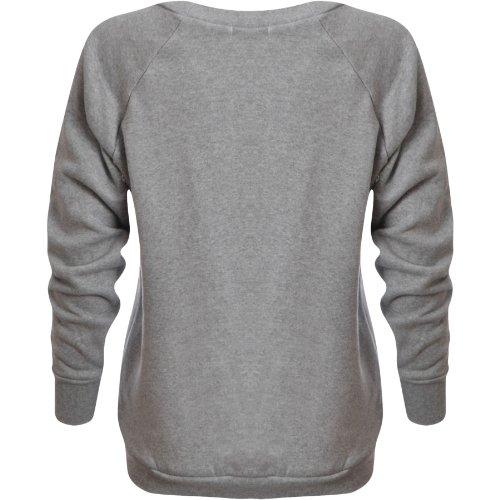 Flirty Wardrobe Sweat-shirt Imprimé GEEK Femme Gris - Gris