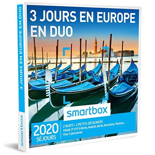 SMARTBOX - Coffret Cadeau homme femme couple - 3 Jours en Europe en duo - idée...