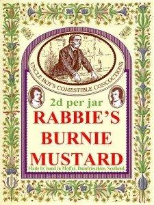 Rabbie&#39s Burnie Mustard - Enamel sign (300x400mm)