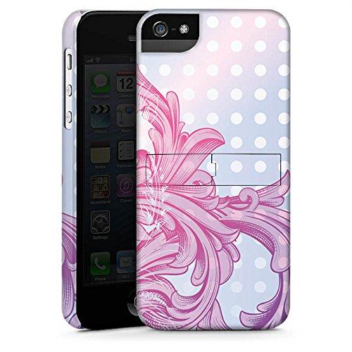 Apple iPhone X Silikon Hülle Case Schutzhülle Punkte Muster Floral Premium Case StandUp