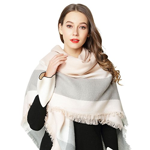 Whifan plaid di modo delle donne dello scialle inverno di grandi signore sciarpa grande inverno morbida sciarpa