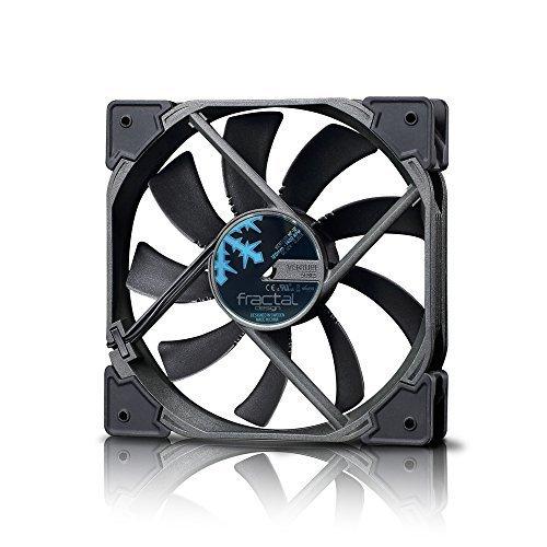 Fractal Design Venturi HF-12 Black, Lüfter für (High End) Gaming PC Gehäuse, schwarz