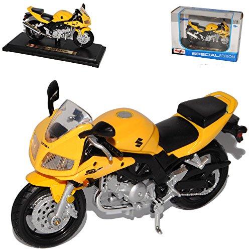 suzuki-sv650s-sv650-sv-650-s-gelb-mit-sockel-1-18-maisto-modellmotorrad-modell-motorrad