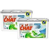 Le Chat L'Expert Duo Efficacité Lessive Liquide en Doses 19 Capsules / 19 Lavages - Lot de 2
