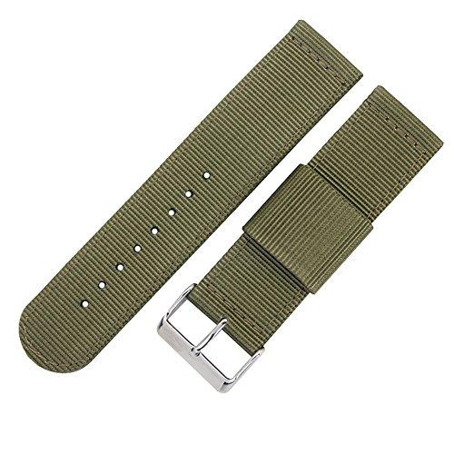Luxus exquisite Herren-Nylon Uhrenarmbänder Bänder Ersatz 20mm NATO Artarmeegrünsegeltuch Textil Perlon (Textil-band)