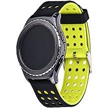 Greatfine Correa 20MM Garmin Vivomove Sport / Garmin Vivomove Classic Watch Pulseras de repuesto para Samsung Gear S2 Classic SM-R732 / SM-R7320, Motorola Moto 360 2nd Generacion 42mm for men / Huawei Watch 2