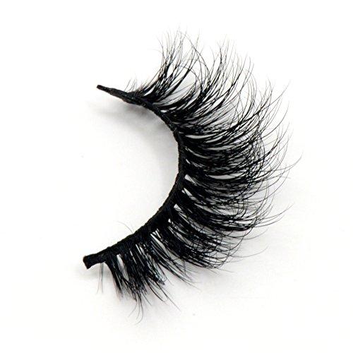 Arison Lashes 3D 100% Handgefertigte Künstliche Wimpern Sibirischer Nerzhaar Natürlicher Blick Augen Falsche Wimpern (1 Paar) -