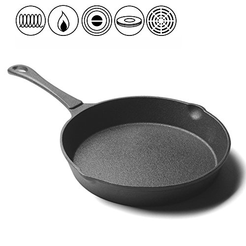 LLW-Frying Pans Pfannen-Bratpfannen Verdickte Unbeschichtete Roheisen-Flache Bratpfanne Antihaft-Roheisen, Das Ei-Steak-Pfannkuchen-Kuchen-Pan-Gas-Kocher Brät