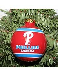 Philadelphia Phillies 2012 Team Logo Glass Ball Ornement de Noël