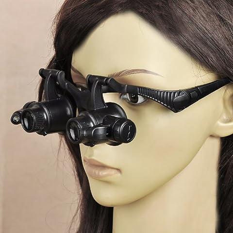 Ryase (TM)-15X, 10 x 20 x 25X-occhiali per riparazione orologi, con luce a LED-Lente d'ingrandimento da occhiali occhiali