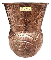SHIV SHAKTI ARTS 1 Copper designer matka glass capacity = 300 ml