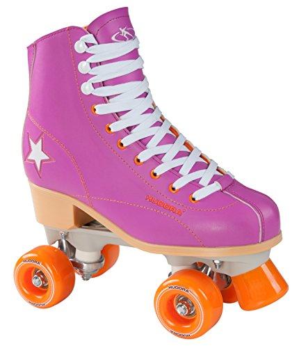 Hudora Disco Rollerskates Unisex Rollschuh, Lila/Orange, 41, 13177