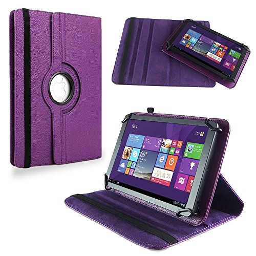 NAUC Tasche Hülle f LG G Pad 2 10.1 Tablet Schutzhülle Case Schutz Cover, Farben:Lila