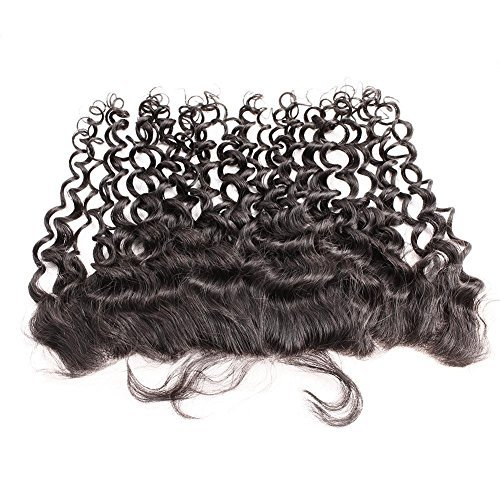 Greatremy 13x4 Brazilian Curly Wave Lace Frontal With Baby Hair Free Part Bleached Knots Virgin Hair Natural Color 14