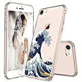 MOSNOVO Cover iPhone 8, Cover iPhone 7, Tokyo Wave Trasparente con Disegni TPU Bumper con Protettiva Custodia Posteriore per iPhone 7 / iPhone 8 (Tokyo Wave)
