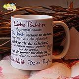 Kaffeebecher ~ Tasse - Liebe Tochter ~ Dein Papa ~ Weihnachten Geschenk