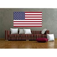 Adesivo da parete adesivi Bandiera Adesivi Stati Uniti d' America, 60 x 32cm