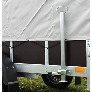 2 Heckstützen für PKW Anhänger Abstellstützen Rohrstützen mit Halterung