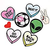 #5: iDream Iron on Patches Embroidery Applique Decoration for Clothes L2-S14 (Pack of 8)