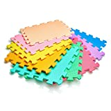 Vinsani 9 Piece Kids Childrens Baby Puzzle Interlocking Soft Foam Activity Play Mat Set Tiles Floor 9Pc Inter-Locking Mats