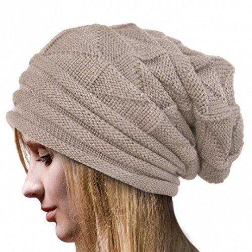 Strickmützen Damen Hüte Winter Mütze Warm Caps von Xinan (❤️, Beige) (Loose Knit Beanie)