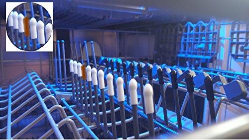 Universelle Abdeckungskappen für Spülmaschinengestelle Spülmaschinenkappen (200, Schwarz) Spülmaschine - Schutzkappen Stäbe Rostschutz Reparatur Set