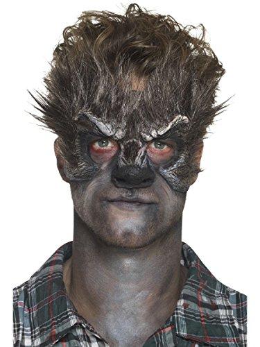 Kopf Kostüm Werwolf - Smiffys Werwolf Kopf Maske mit Klebemittel Halloween Kostüm Zubehör