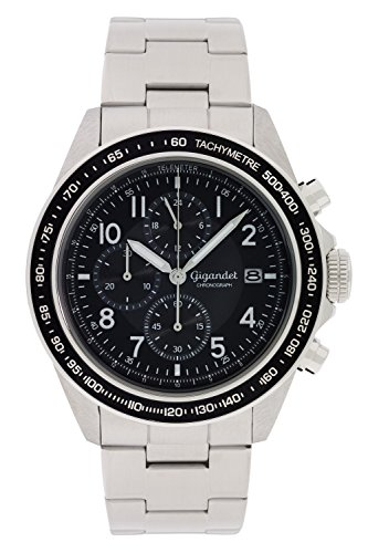 Gigandet Racetrack Men's Analogue Wrist Watch Quartz Chronograph Silver Black G24-005