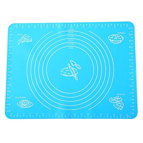 Bestonzon tappeto stendipasta di silicone per cucina in blu